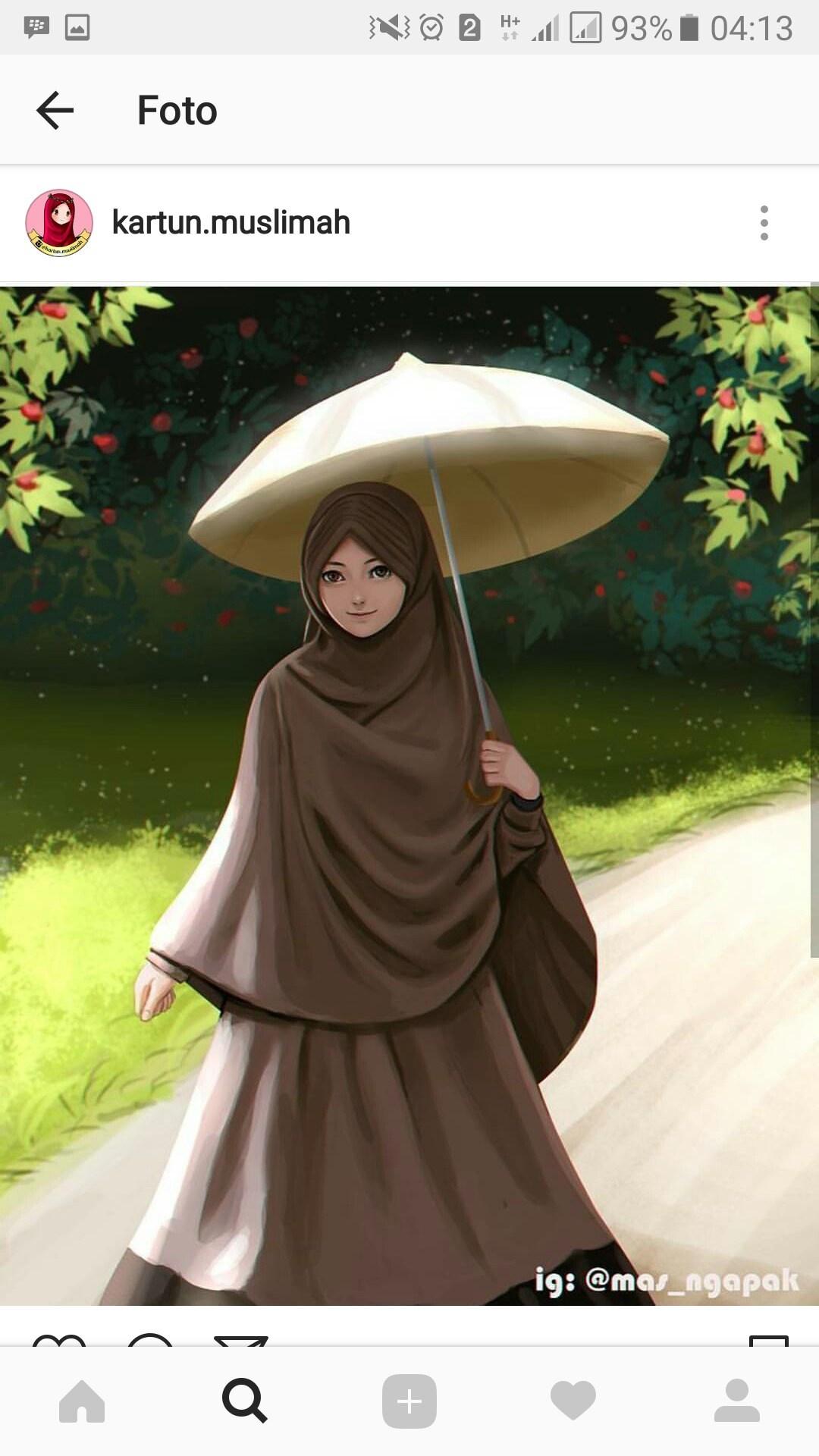 Gambar Kartun Wanita Muslimah Dari Belakang Terbaru Ansyf Ardiyanursifah Likes Askfm